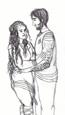 AnnMarie Pavese Fan Art 2 SO SANG THE DAWN Saoirse & Theron